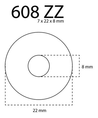rulemanes kg 608zz abec 3 para rollers y patines unidad