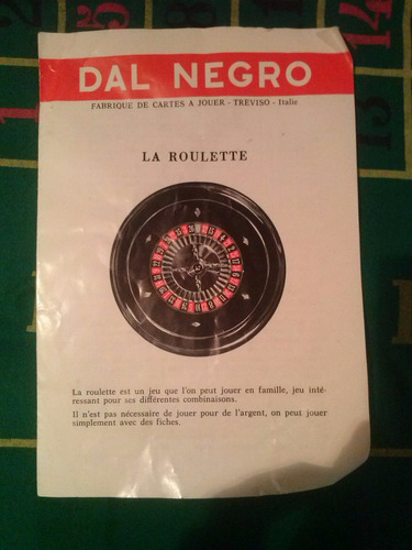 ruleta con tapete y fichas italiana perfecto estado