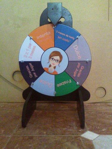 ruleta fortuna, rueda de la suerte, publicidad con premios