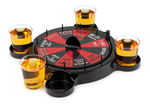 ruleta juego previa 4 shots adulto para tomar vodka tekila