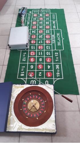 ruleta semi profesional de cedro con 270 fichas y paño