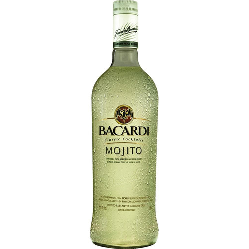 rum mojito garrafa original 980ml - bacardi