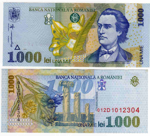rumania - billete 1000 lei 1998 - nuevo!!!