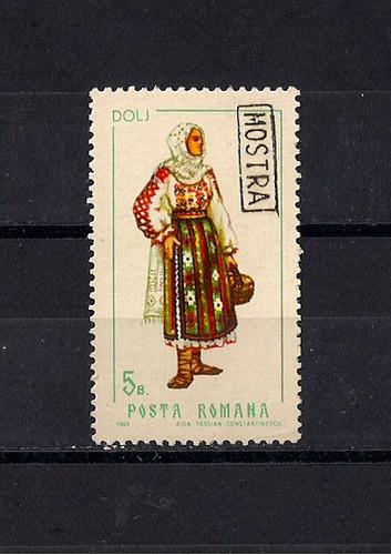 rumania, sello yvert nro. 2440 con sobrecarga muestra raro!!