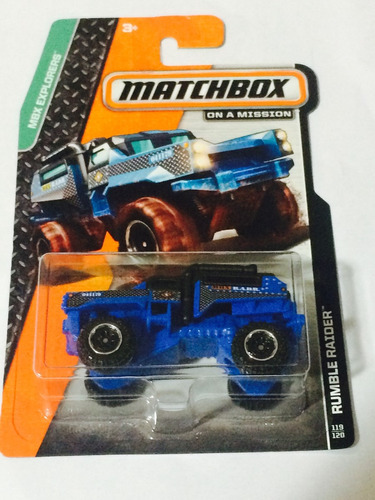 rumble raider matchbox explorers 2014