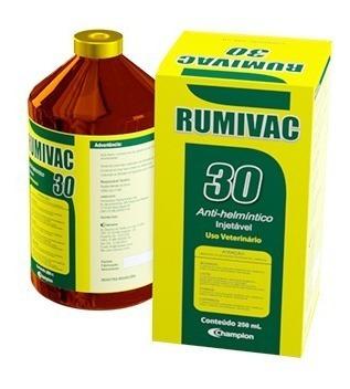 rumivac 30 injetável - vermífugo para bovinos e ovinos