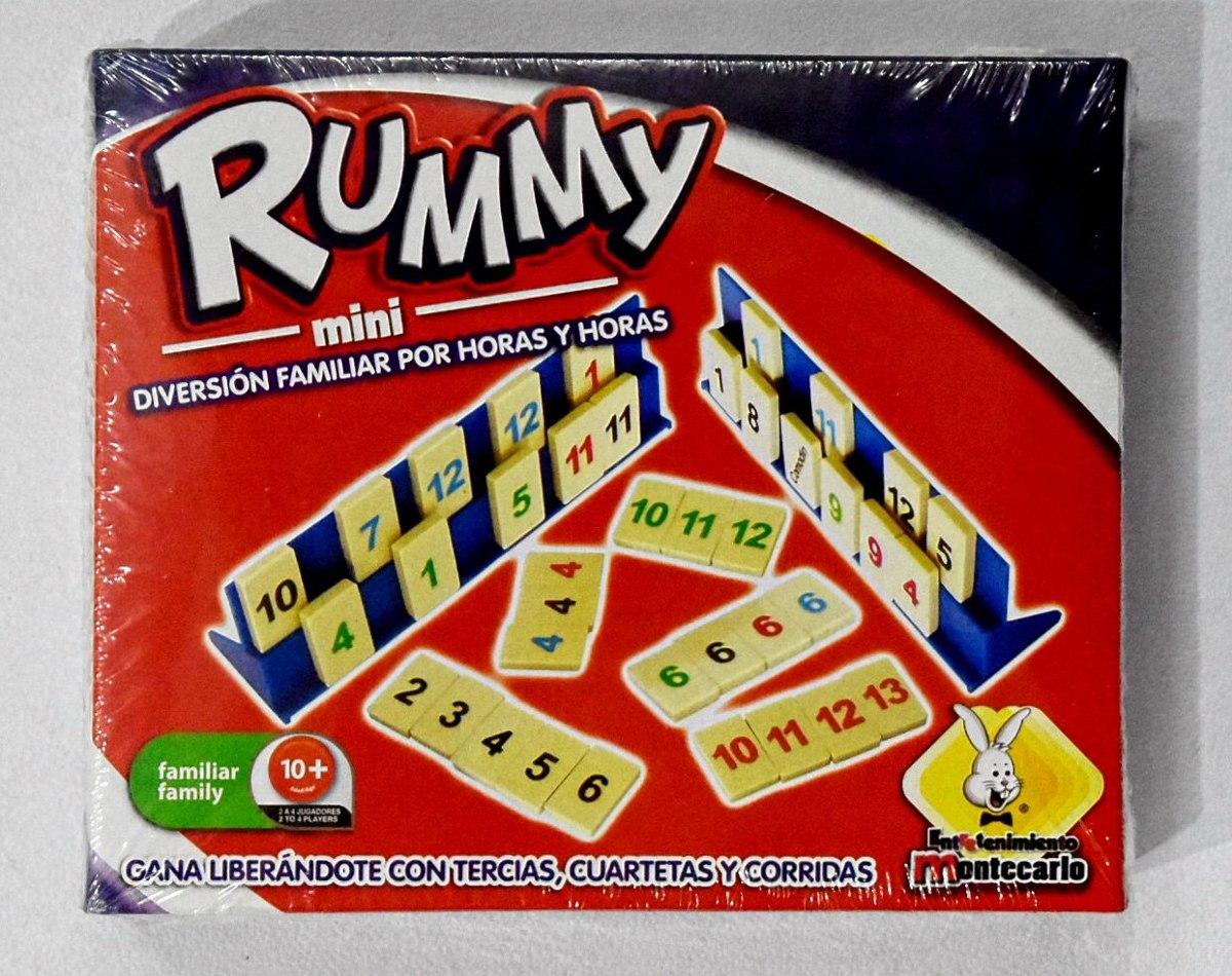 Rummy Mini Juego De Mesa Montecarlo 145 00 En Mercado Libre