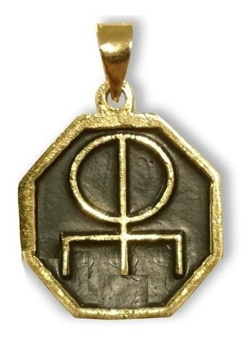 runa del amor en chapa de oro - atrae amor, arte y armonia