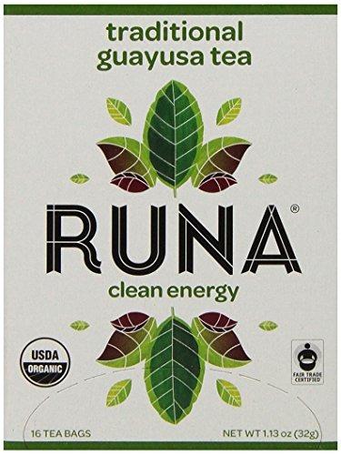 runa energía limpia, tradicional té guayusa, 16-count bolsi