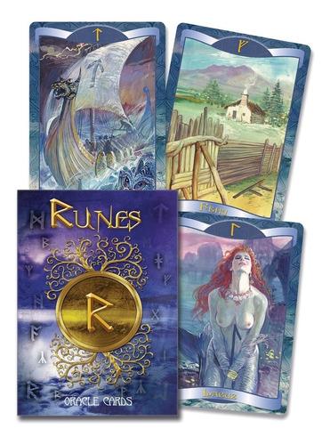 runas cartas del oráculo, runes oracle, libro y 24 cartas