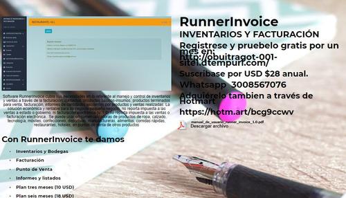 runner invoice - inventarios y facturación