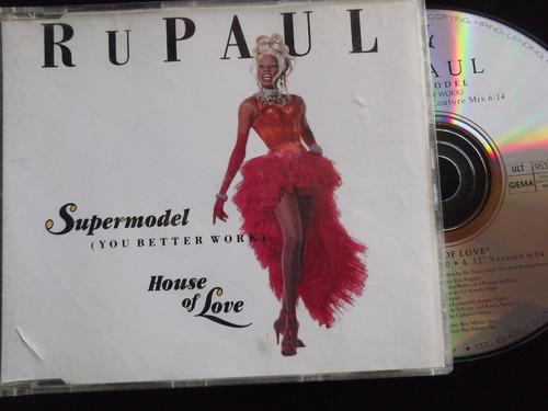 rupaul -supermodel (you better now) house love- cd maxi