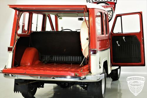 rural willys 1972 72 6cc 4x4 - original baixa km - vermelha