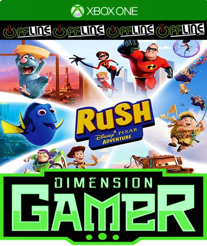 rush a disney pixar adventure xbox one no codigo off-line