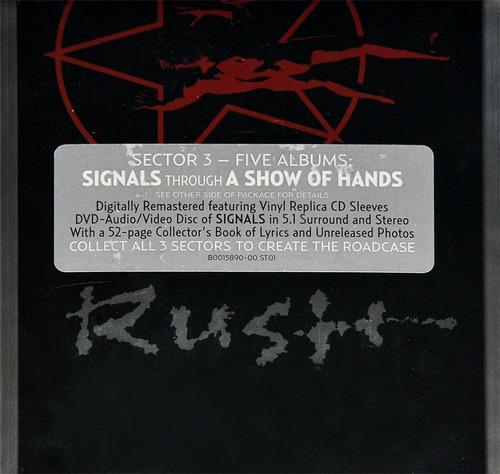 rush - sector 3 [box 5cd+dvd] importado lacrado neil peart