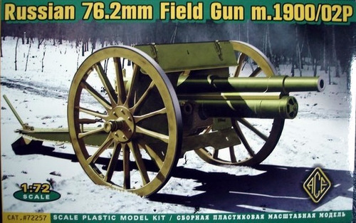 russian 76.2mm field gun m.1900/02p 1/72 ace 72257