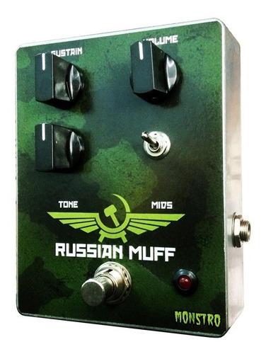 russian big muff pedal de efeito fuzz vintage para guitarra