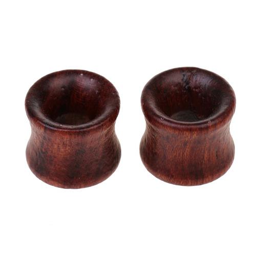 rústico buda de madera 8-20mm tapón para el oído túnel c