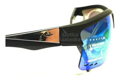 rusty dam anteojos sol polarizados intercambiables clip azul