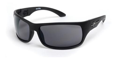 rusty exile anteojo de sol gafas polarizado envolvente negro