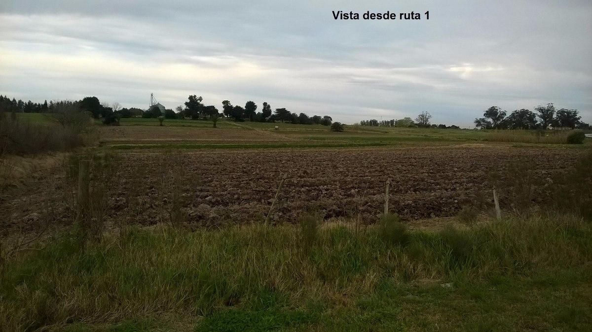 ruta 1 km.16 campo con frente también a cno. las flores