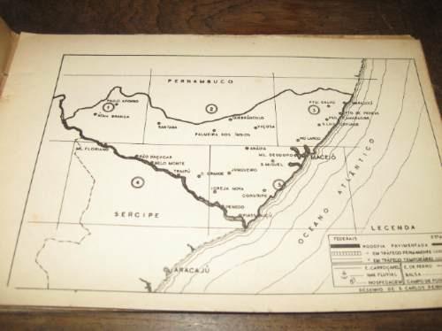rutas brasil roteiro rodoviario do estado de alagoas 1951
