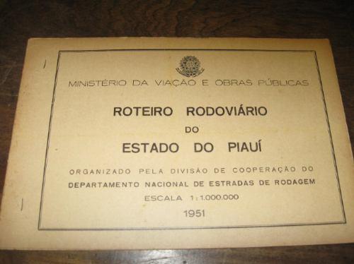 rutas brasil roteiro rodoviario do estado de piaui 1951
