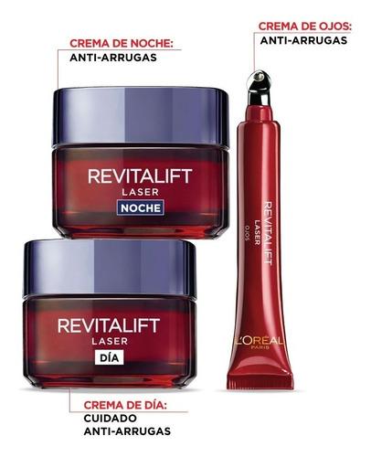 rutina anti arrugas piel madura laser revitalift l'oréal