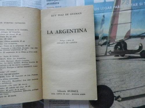ruy díaz de guzman la argentina prólogo enrique de gandía