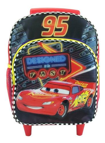 ruz -  disney cars mochila kinder  infantil c/ruedas