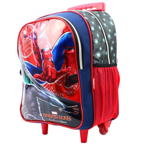 ruz -  marvel spider-man far from mochila  primaria c/ruedas