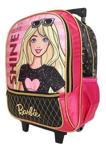 ruz -  mattel barbie mochila primaria c/ruedas  infantil