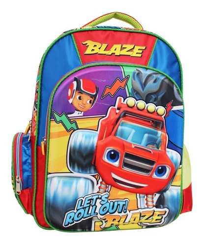 ruz -  nickelodeon blaze and the  monste mochila primaria