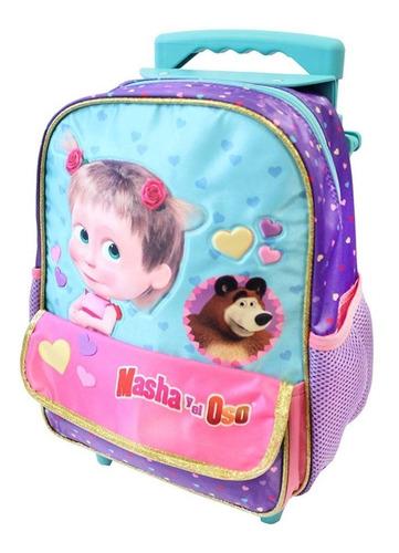 ruz -  panaderia masha y el oso mochila kinder escolar