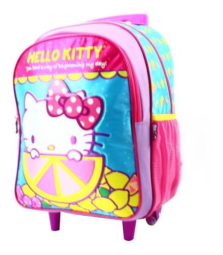 ruz -  sanrio hello kitty mochila infantil con ruedas