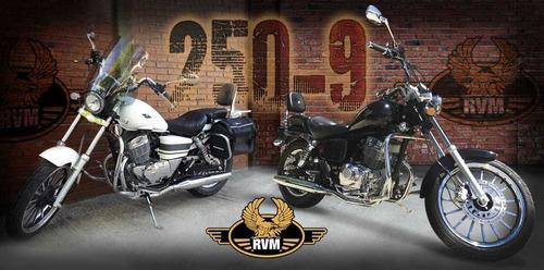 rvm 250-9 custom inyeccion jawa 0km 2020 ruta 3 motos