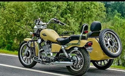 rvm jawa choppera 400-9 con sidecar   motozuni lanús