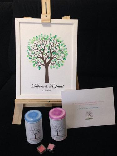 àrvore de digitais casamento - kit completo
