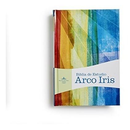 rvr 1960 biblia de estudio arco iris, multicolor, tapa dura