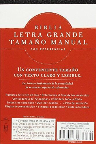 Rvr 1960 Biblia Letra Grande Tamaño Manual, Negro Imit W5 ...