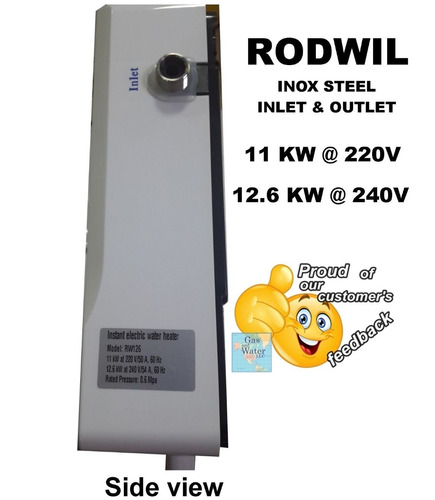 rw126 calentador de agua sin tanque eléctrico a pedido 12.6