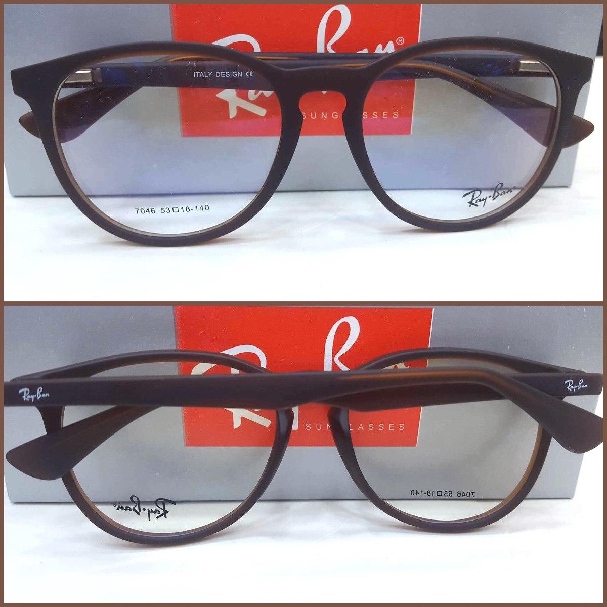 777583b763ae8 rx7046 rb7046 armação óculos redondo marrom frete grátis. Carregando zoom.