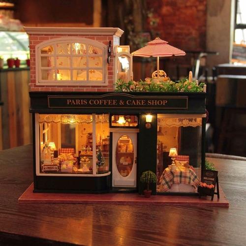 rylai casa de muñecas hecha a mano, de madera, miniatura