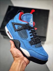 60ee88f4b470 Polvos Azules Zapatillas Jordan Retro 4 - Zapatillas Hombres Nike en ...