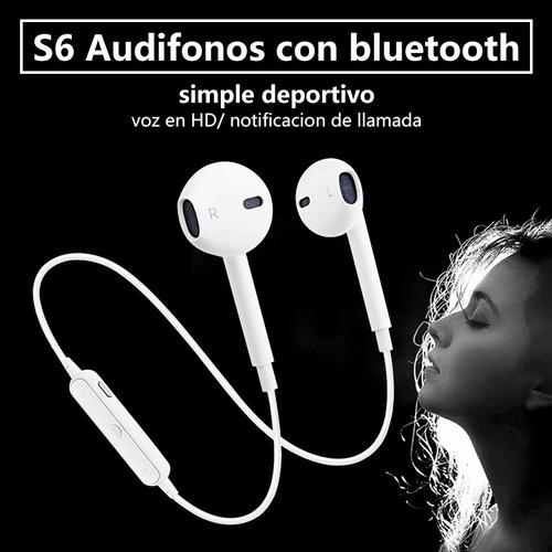 s6 audifonos bluetooth manos libres deportivos estereo