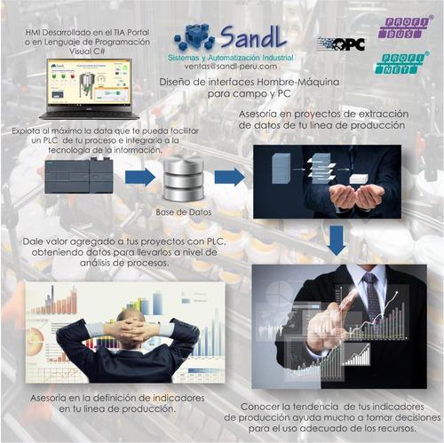 s7-1200 siemens - programador de autómatas - interfaces hmi