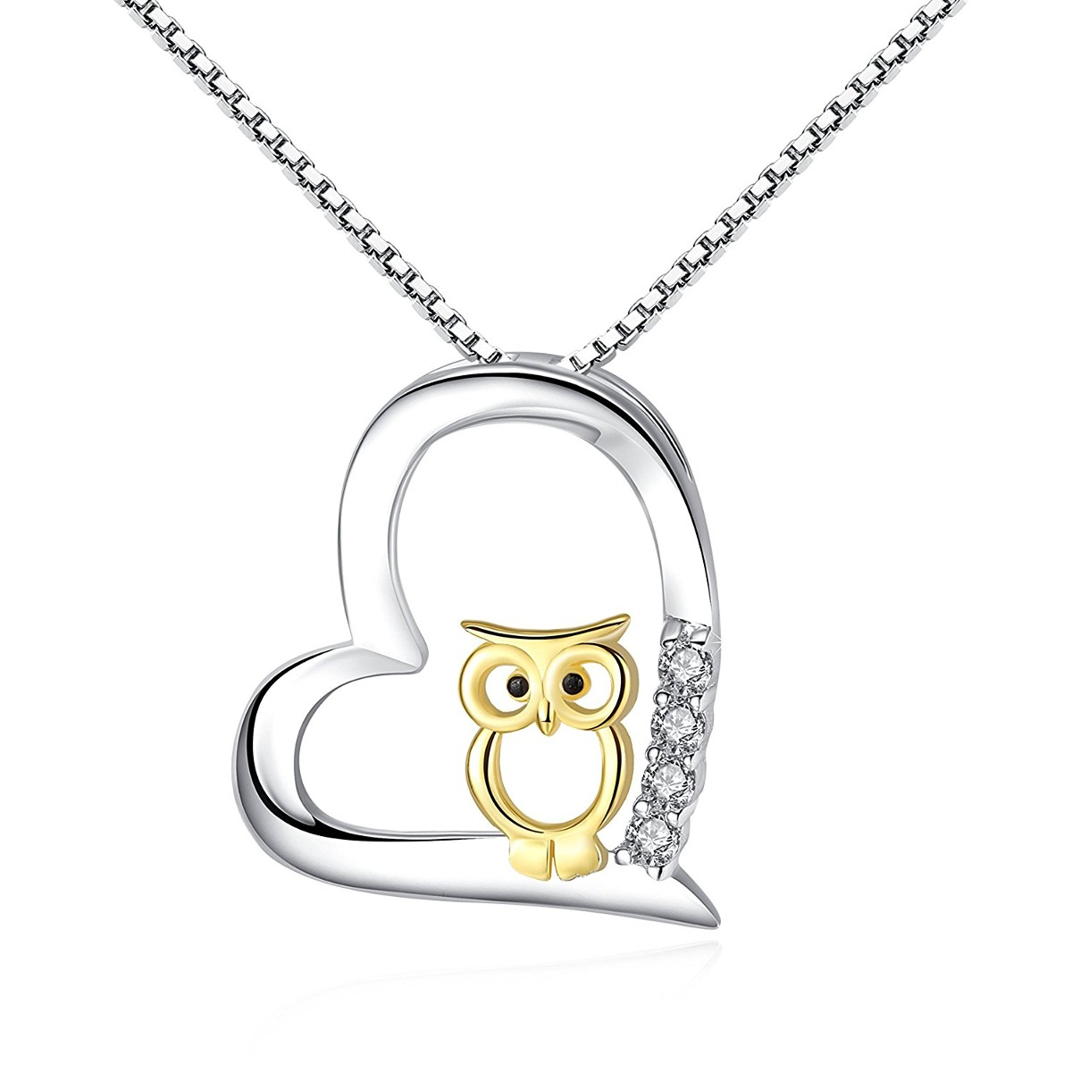 S925 sterlro owl pendant necklace valentines regalos mujeres s925 sterlro owl pendant necklace valentines regalos mujeres cargando zoom aloadofball Image collections