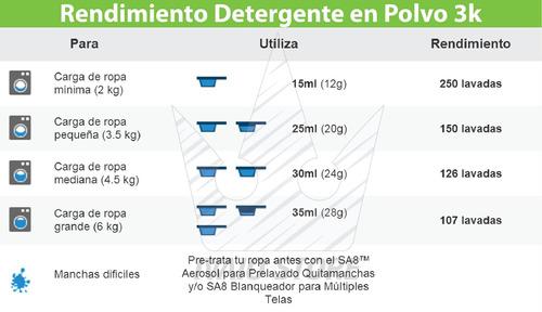 sa8 premium detergente en polvo 3 kg ecologico - amway
