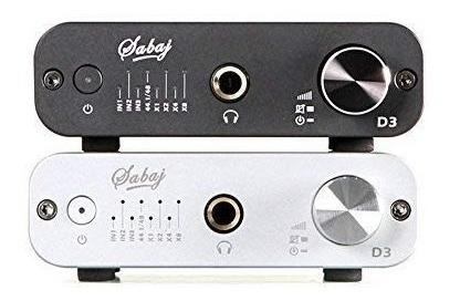 sabaj d3dac audio y amplificador de auriculares con 32bit/3