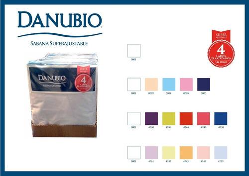 sabana ajustable 1 1/2 plazas danubio 4 lados elastizados